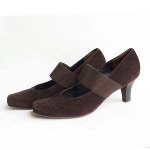 Paul Green Suede Mary Janes sz 10